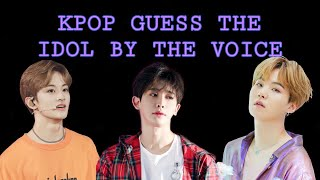 KPOP GUESS THE IDOL BY THE VOICE | KPOP GAME