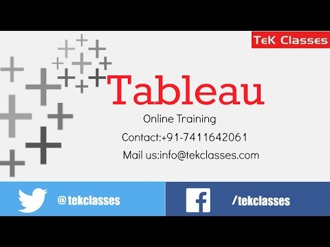 Tableau Online Training Tutorials | Tableau Training in India