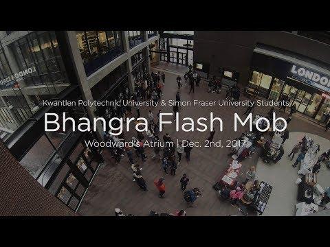 Bhangra Flash Mob - KPU & SFU Students - Woodwards Atrium Vancouver