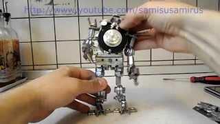 Как сделать робота своими руками №1(Многие думают- как сделать робота своими руками?! Очень даже неслодно. Робот сделан из подручных материалов,..., 2015-02-05T18:54:11.000Z)