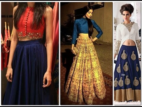 Fashionable Women Lahenga With Crop Tops