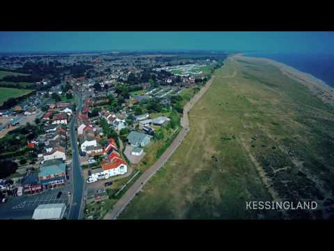 Seagull's view of beautiful Kessingland Beach on the Suffolk Coast