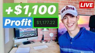 LIVE TRADING $1,177.22 Profit In 1 Hour | Consistent Profit