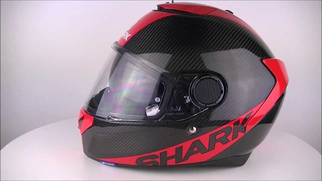 shark spartan carbon red skin drr helmet championhelmets. Black Bedroom Furniture Sets. Home Design Ideas