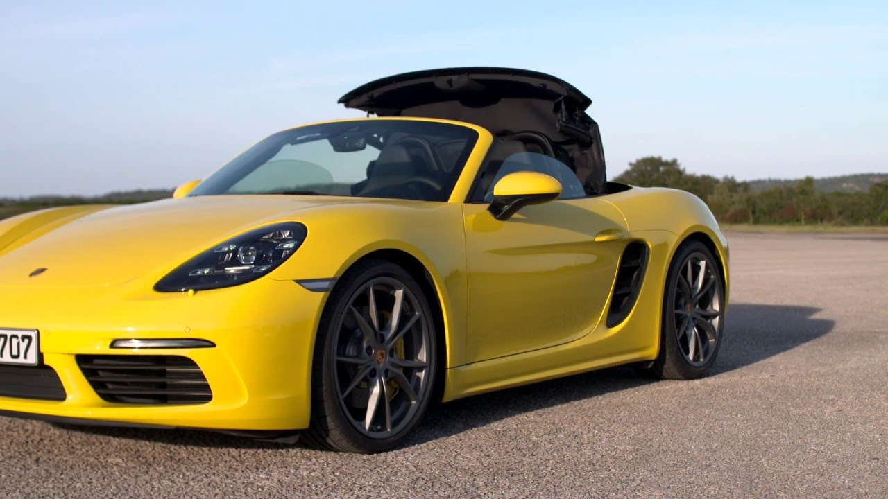 2017 porsche 718 boxster s racing yellow youtube. Black Bedroom Furniture Sets. Home Design Ideas