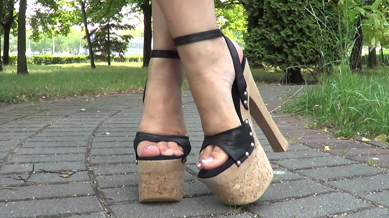 7,5 inch platform high heels - YouTube
