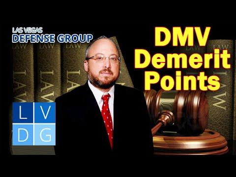 DMV Demerit Point System