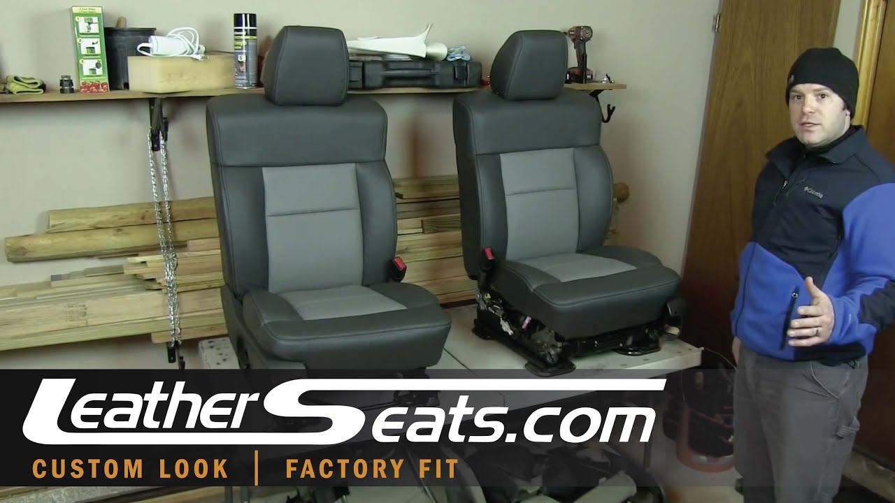 2004 2008 Ford F 150 D I Y 2 Tone Leather Interior Kit Installation Part 5 Of 5 Leatherseats Com