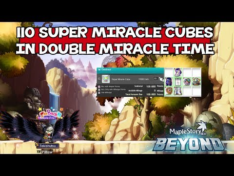 Maple Story SEA - 110 Super Miracle Cubes During Double Miracle Time !