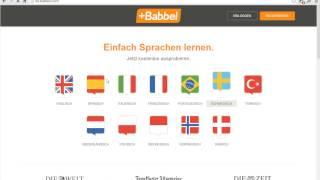 Babbel Erfahrungen Teil 1 - Anmeldung, registrieren, anmelden bei Babbel.com