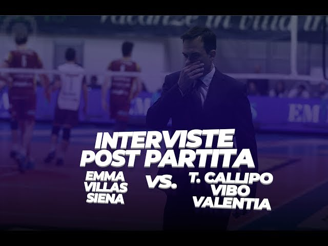 Intervista al Presidente Bisogno, il centrale Mattei e Coach Valentini di Vibo