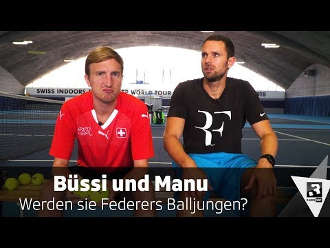 Werden Büssi und Manu Roger Federers Balljungen? | Swiss Indoors Basel  | SRF 3-Comedy