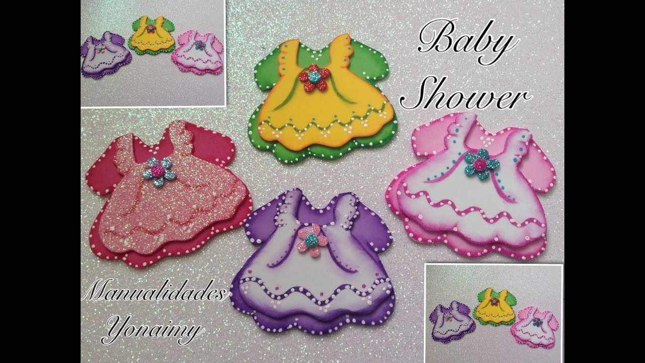 Vestiditos dobles para baby shower youtube for Novedades para baby shower