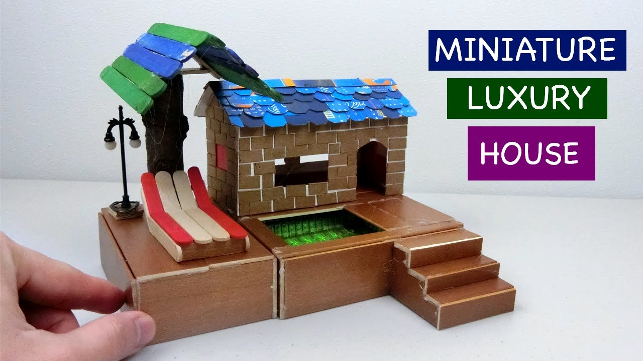 Diy Miniature Luxury Fairy House With Swimming Pool Easy Craft