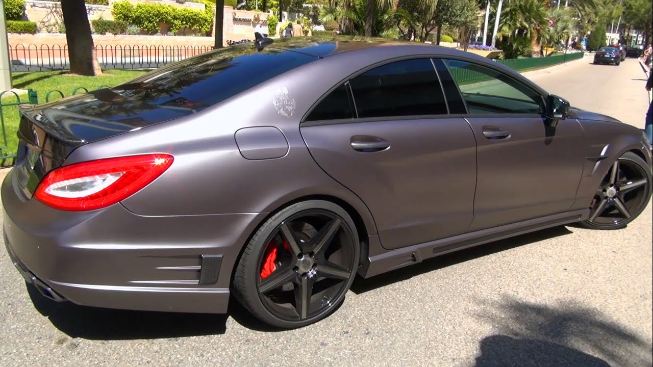 mercedes cls 63 amg - with unknown bodykit - brabus ??? no ! matte