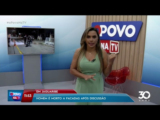 Homem é morto a facadas após discussão em Jaguaribe - O Povo na TV