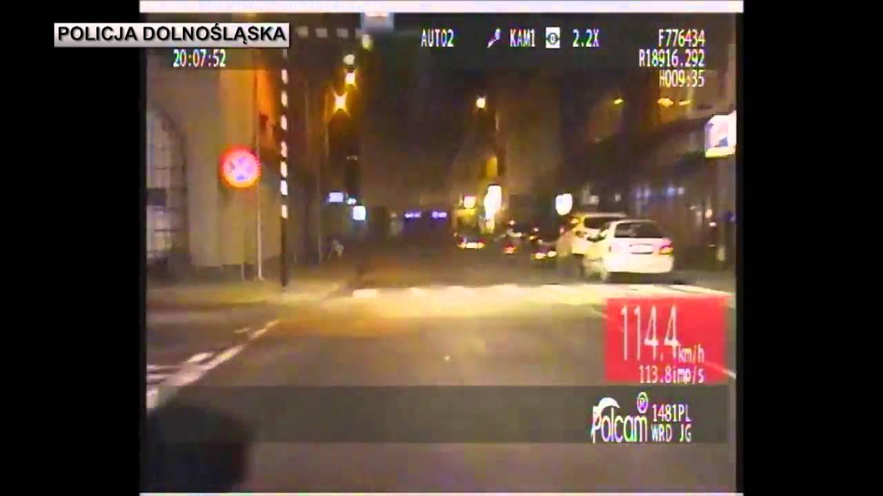 Śmiertelne potrącenie w Jeleniej Górze - film z pościgu