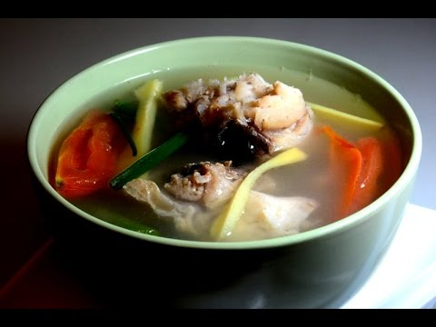 Fish head soup with mix veggie and lemon youtube for Fish head soup recipe
