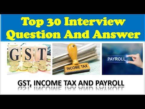 Taxation Interview Questions And Answers