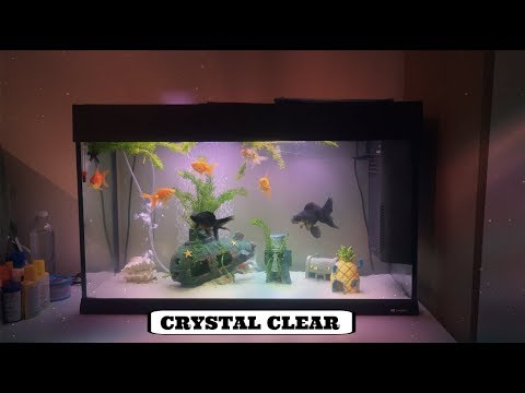 HOW TO GET CRYSTAL CLEAR WATER IN FISH TANK (FERPLAST DUBAI 80 125L TANK)