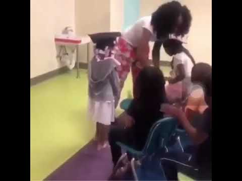 Bad kid fights teacher and curses her out at his graduation