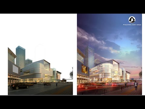 ✅ BT5: Hướng dẫn hòa trộn làm photoshop phối cảnh đêm | Photoshop kiến trúc