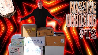 massive tropical fish unboxing  1000s of fish from the far east part 2