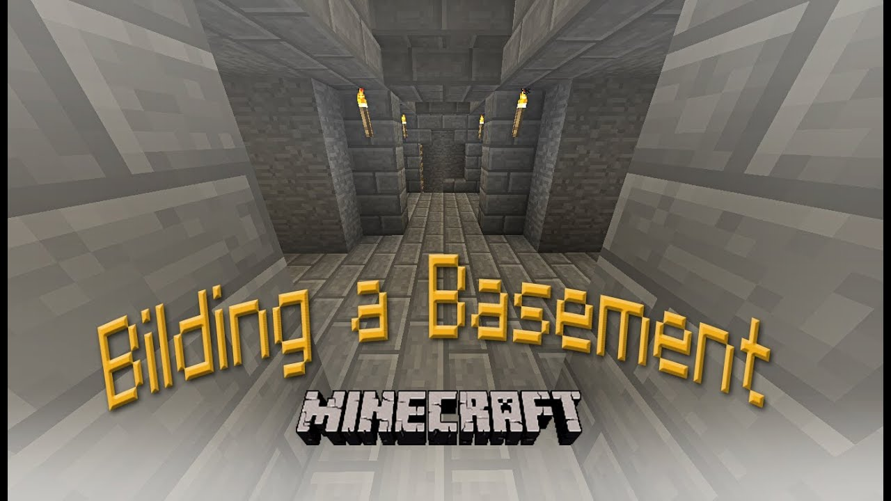Hard Core Minecraft How To Build A Basement And Mineshaft For Your House Part 7
