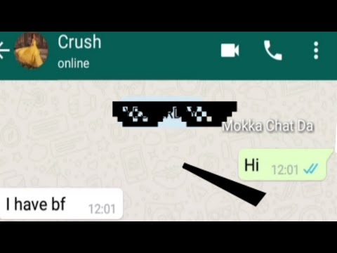 Funny Chat With Crush । Thug Life । Mokka Chat Da । Mokka Joke Da  YouTube Channel । Funny Chat