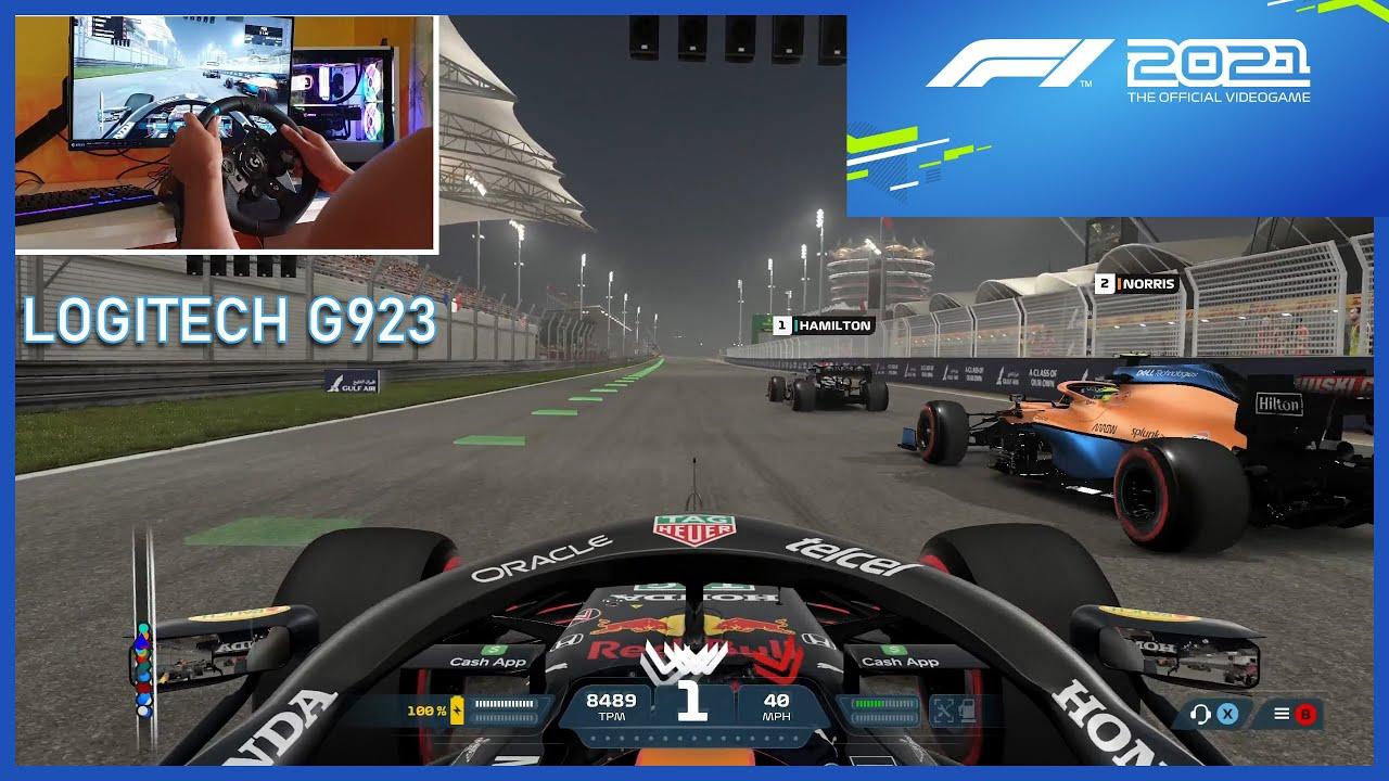 F1 2021-  Bahrain Grand Prix (Gameplay Logitech G923)