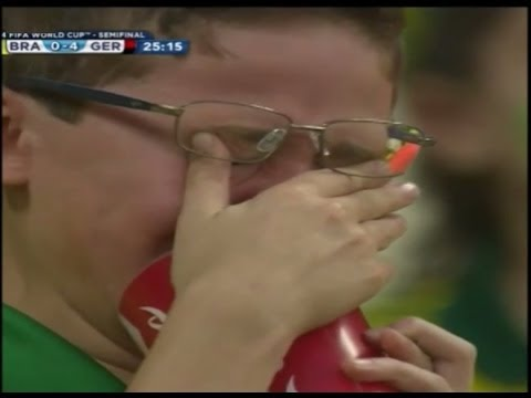 Kid crying Brazil vs Germany 1-7 ( cuz brazil got Eliminated from World cup 2014)