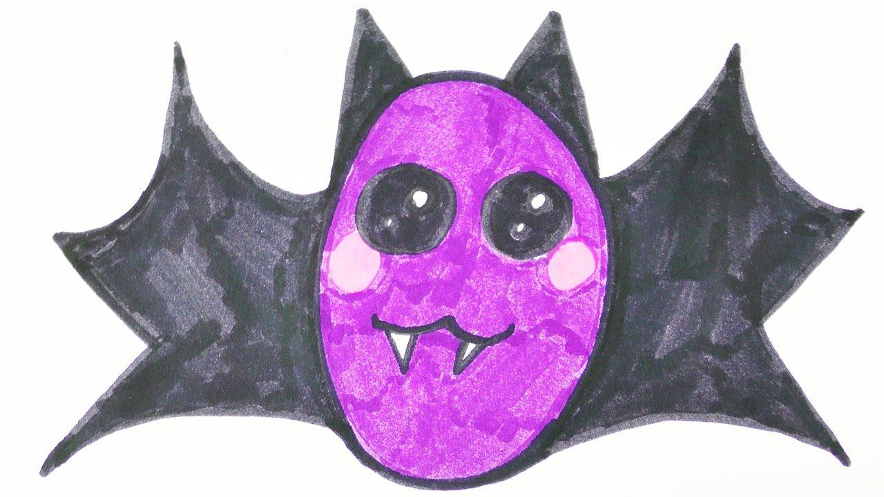 KAWAII HALLOWEEN DIY Fledermaus zeichnen | niedlichen Blutsauger mit ...