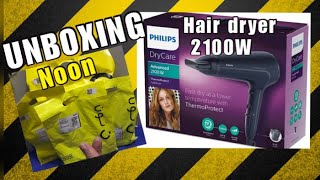 Unboxing Philips Hair Dryer 21…