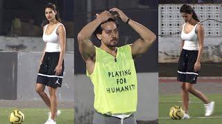 Disha Patani came to cheering in BF Tiger Shroff football match 😍 😍 😍 😍 😍