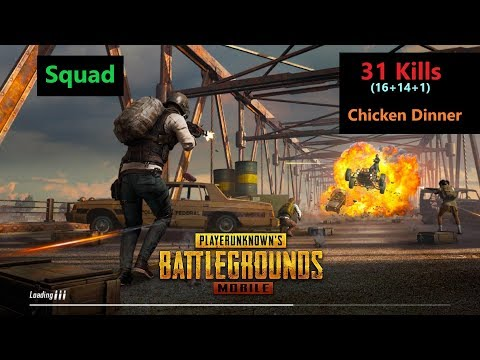 "[Hindi] PUBG Mobile | ""31 Kills"" In Squad Chicken Dinner With Subs"