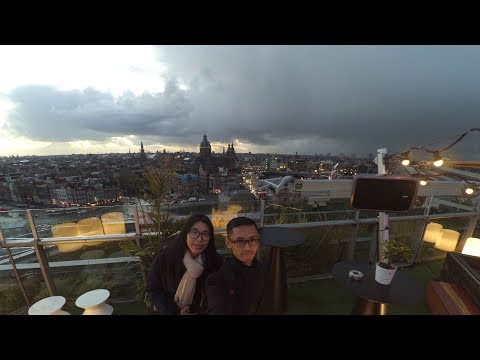 Transit in Abu Dhabi and 5 Hours of Walking Explore in Amsterdam