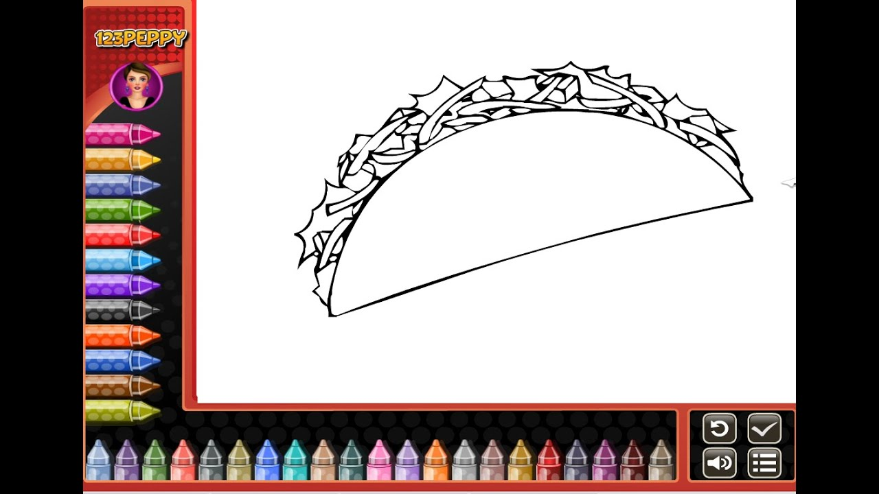 taco coloring pages for kids - photo #39