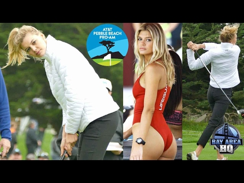 BAYWATCH star Kelly Rohrbach interview, Golf Highlights at 2017 AT&T Pebble Beach Pro Am