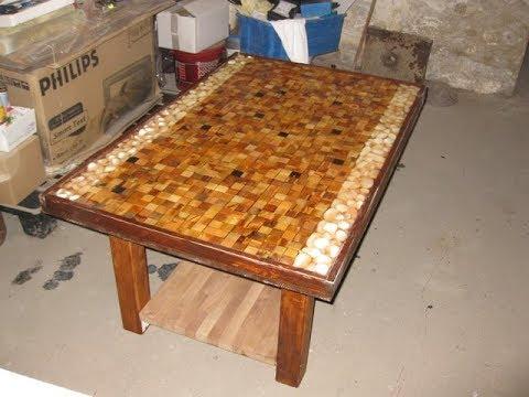 Epoxy Resin Wood Table.
