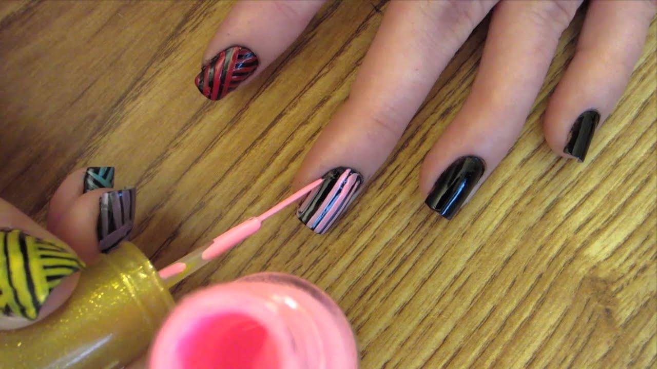 Step by Step Nail Art Tutorial: Tribal Nail Art Design ...