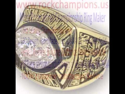 AFC 1989 Denver Broncos America Football Championship Ring, Custom Championship Ring