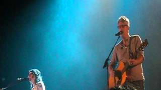 Audrey assad and matt maher perform restless on sunday, may 1, 2011 at the mattie kelly arts center in niceville, fl as part of shelter tour featuring ja...