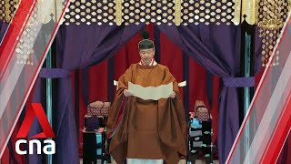 Japan Emperor Naruhito's enthronement ceremony