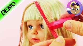 Розовые волосы для старшей сестры BABY BORN красим мелом для волос Демонстрация куклы