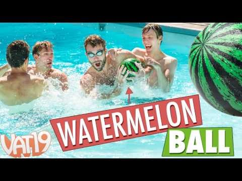 Rugby in the Pool with Watermelon Ball