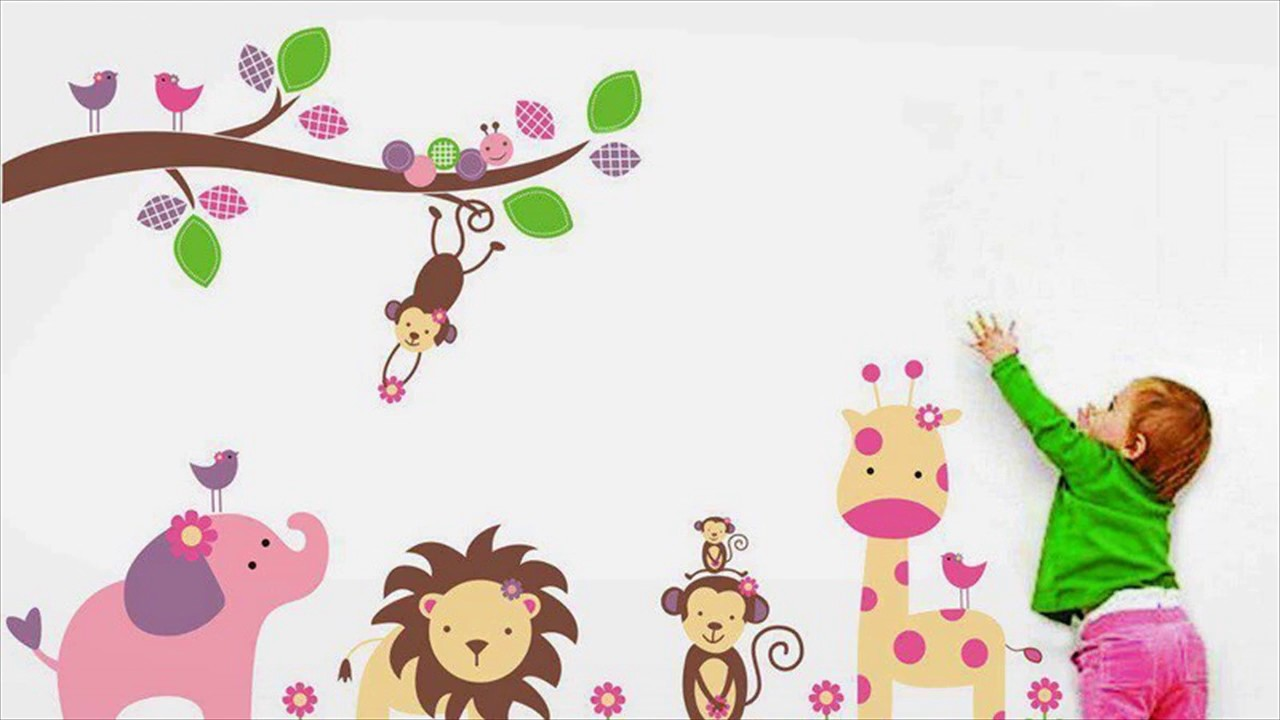 Animal wall stickers for kids room youtube animal wall stickers for kids room amipublicfo Choice Image