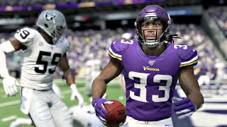 Minnesota Vikings vs Oakland Raiders - Madden NFL 20 Week 3 NFL Sunday 9/22/2019