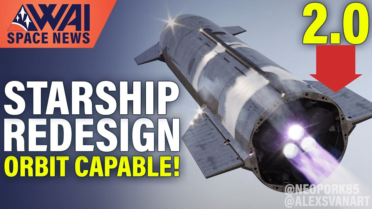SpaceX working on design for Starship 2.0!