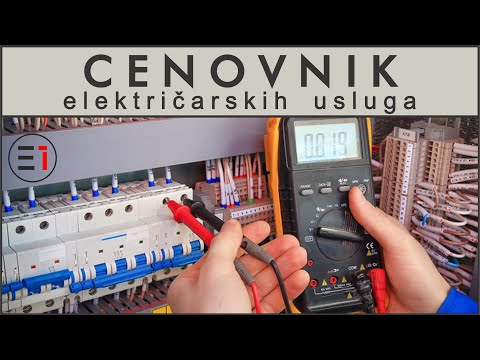 CENOVNIK elektricarskih usluga 2019.