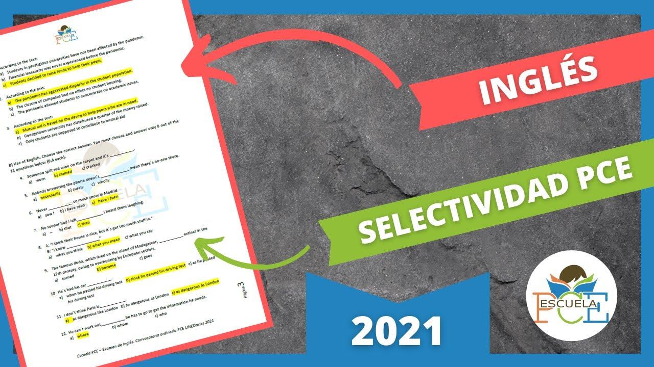 Download ✔️ EXAMEN SELECTIVIDAD PCE INGLÉS 2021 RESUELTO